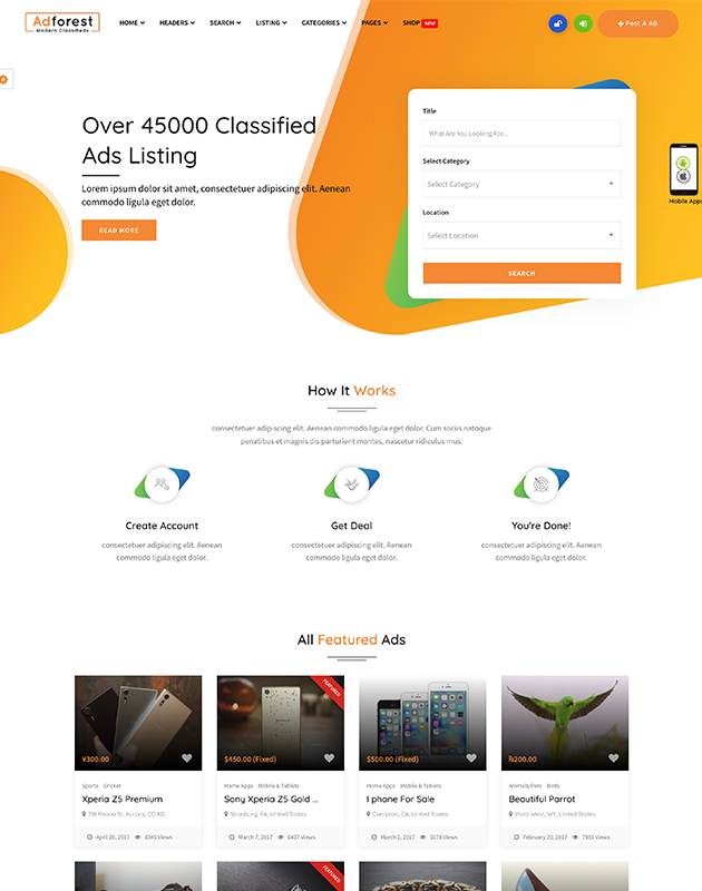 AdForest-Finder-listing-directory-wordpress-theme