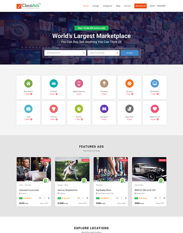Classiads-Finder-listing-directory-wordpress-theme