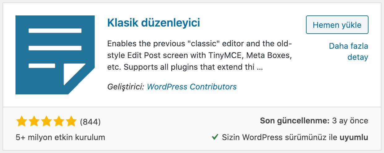 WordPress Eski Yazı Editörü