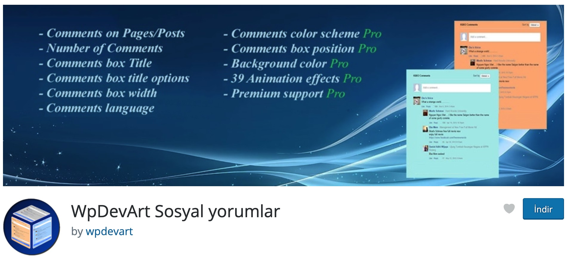 WordPress Sosyal Yorumlar