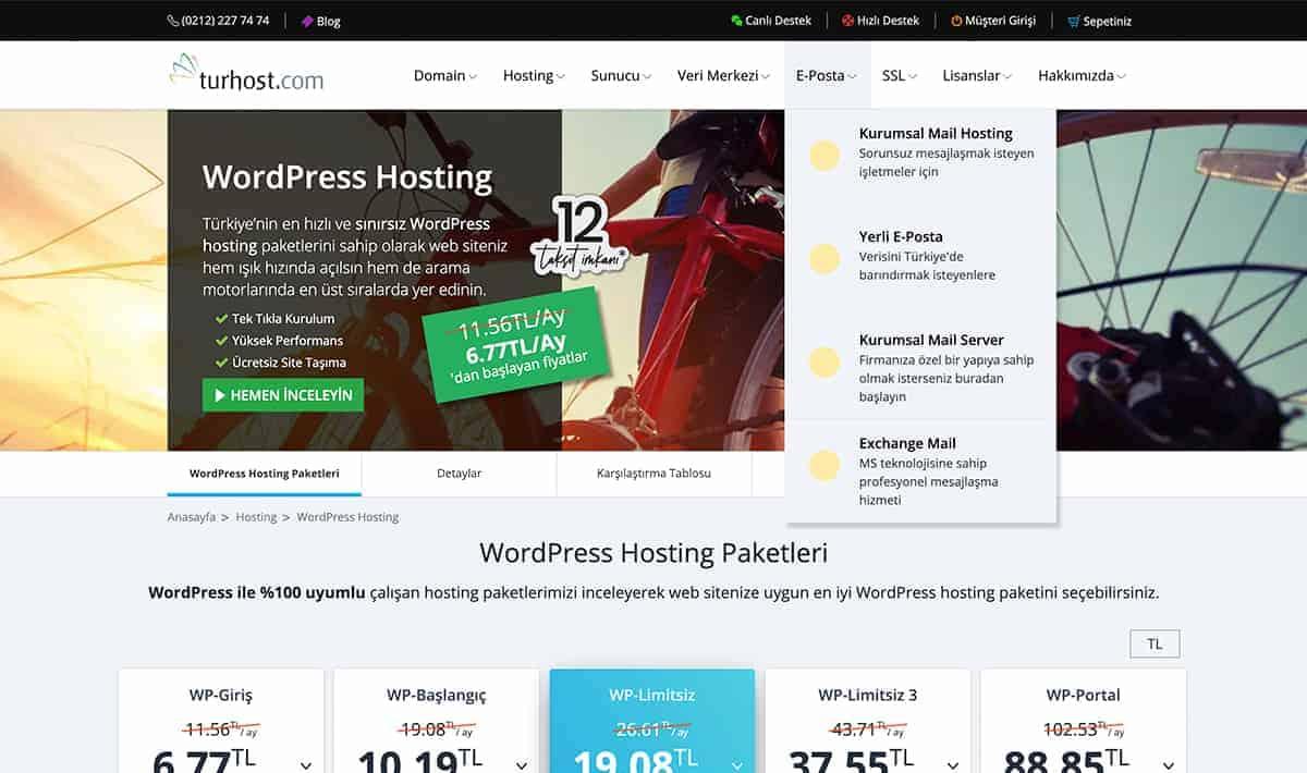 WordPress Hosting Turhost