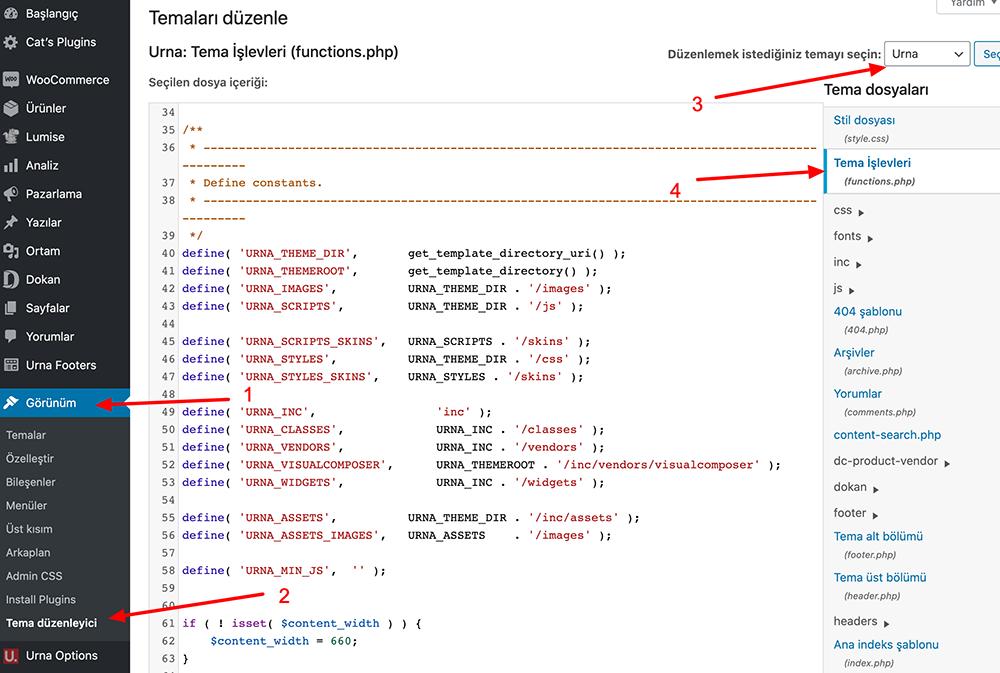Functions.php Dosyası Nerede Yer Alır?