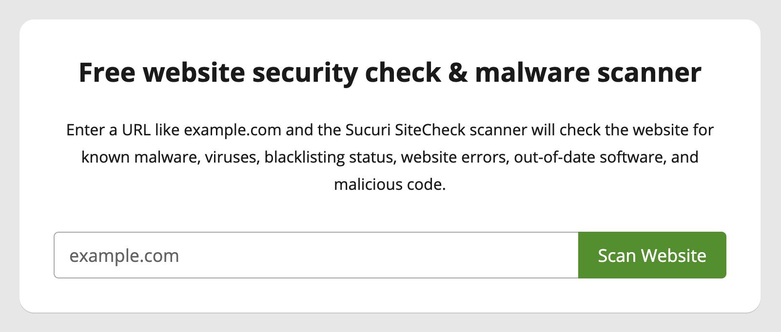 Sucuri Site Check