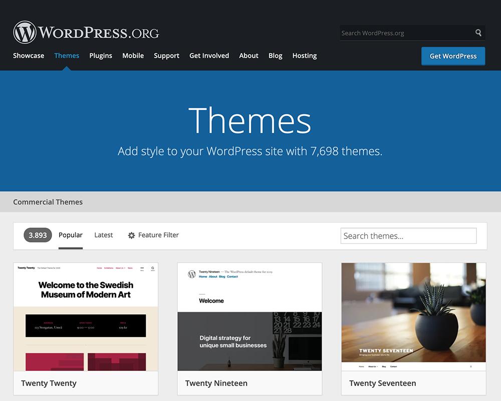 ücretsiz WordPress temaları
