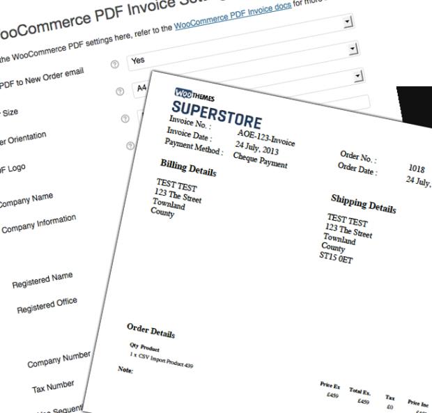 PDF Invoices WooCommerce fatura eklentisi