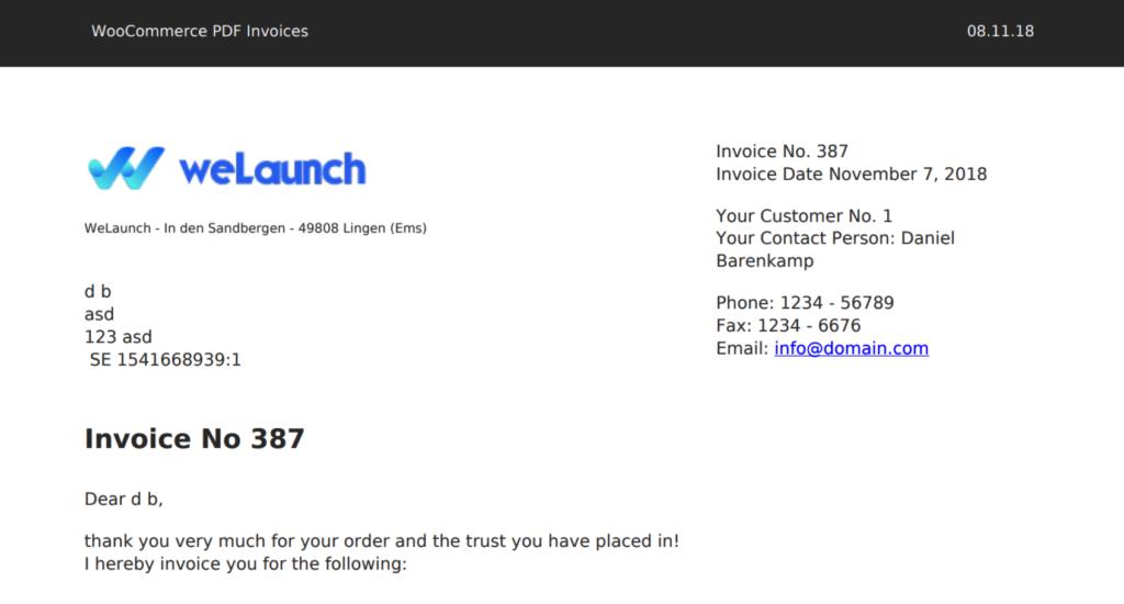 WooCommerce PDF Invoices & Packing Slips WooCommerce fatura eklentisi