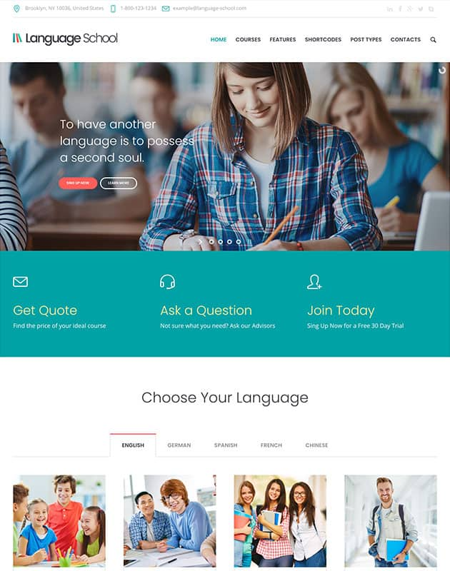 Language-School-wordpress-egitim-temasi