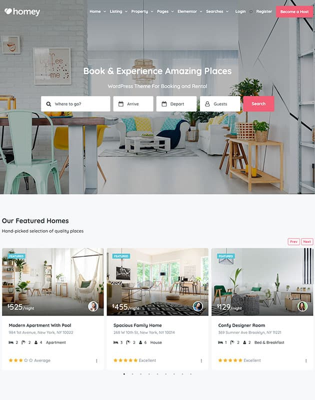 homey-wordpress-emlak-temasi