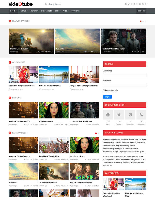 VideoTube-wordpress-haber-temasi