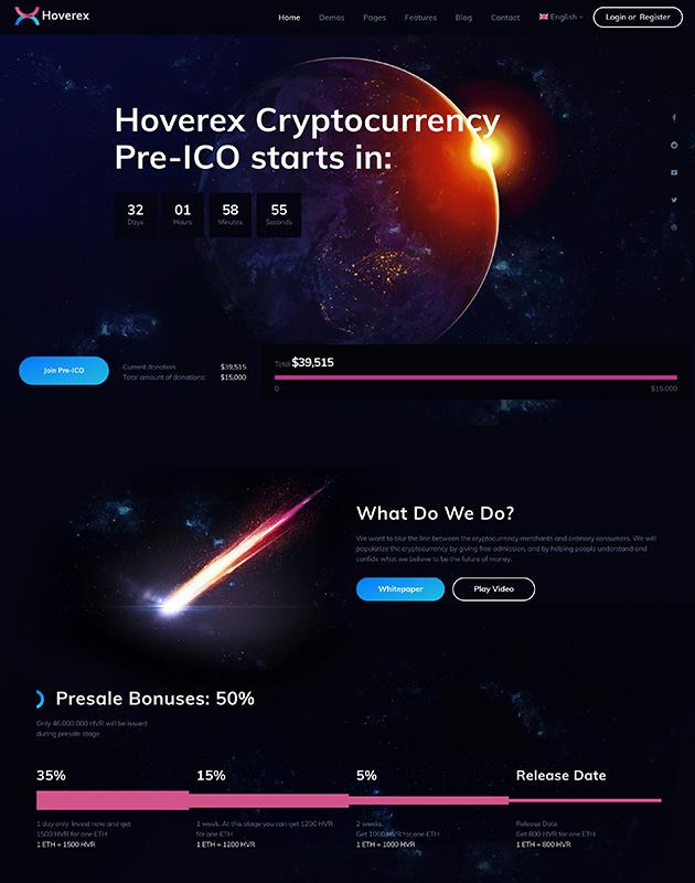 Hoverex-wordpress-kripto-para-temasi