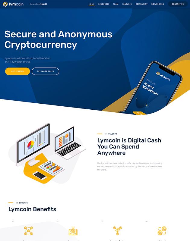 Lymcoin-wordpress-kripto-para-temasi