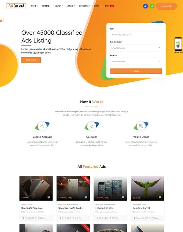 AdForest-Finder-firma-rehberi-wordpress-temasi