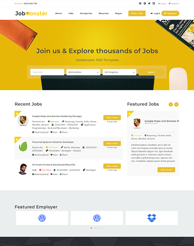 Jobmonster-firma-rehberi-wordpress-temasi
