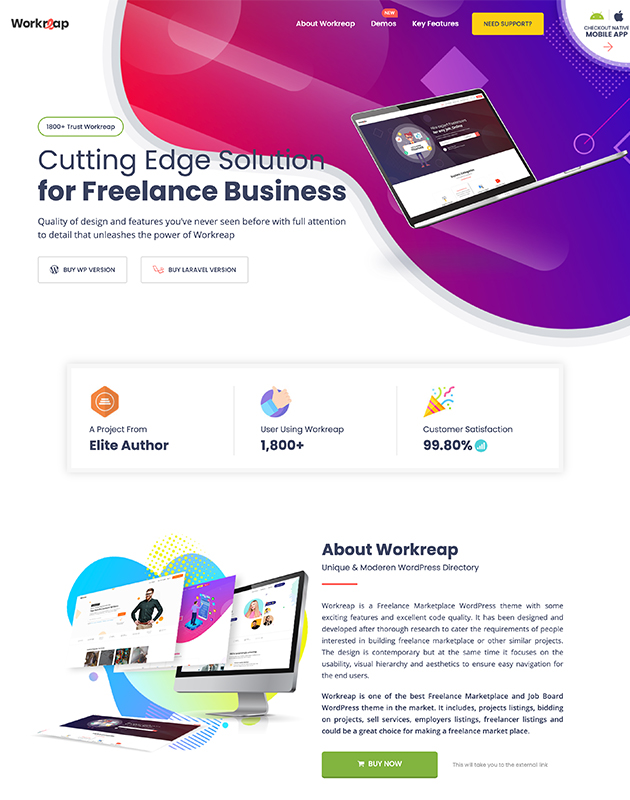Workreap-firma-rehberi-wordpress-temasi