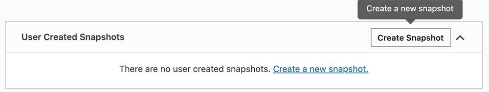 Create Snapshot