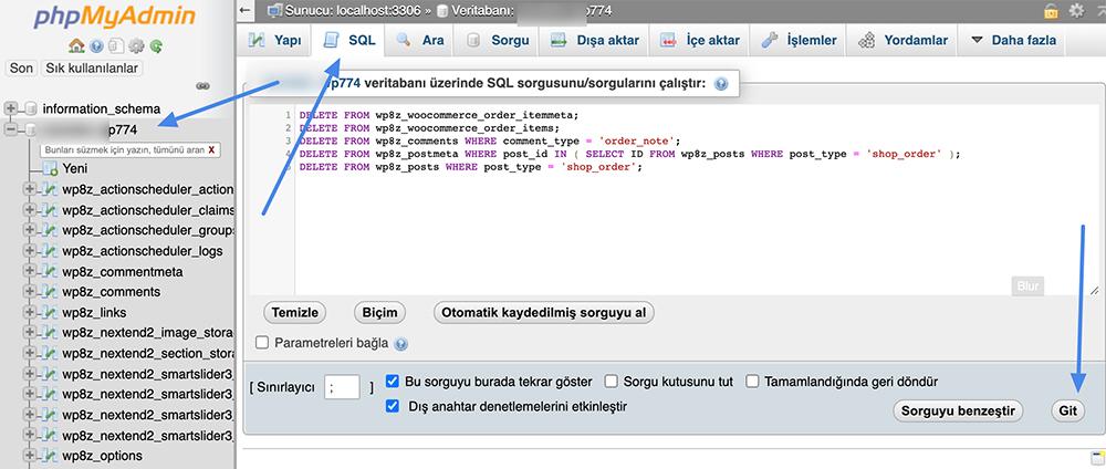 SQL sorgusu nasıl yapılır